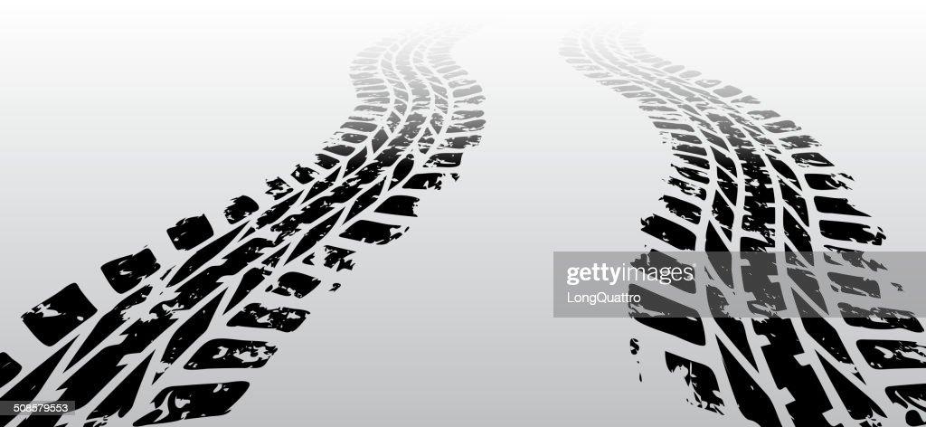 Zig zag tire track : Vector Art