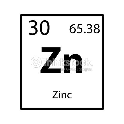 Zinc Periodic Table Element Icon On White Background Vector Vector