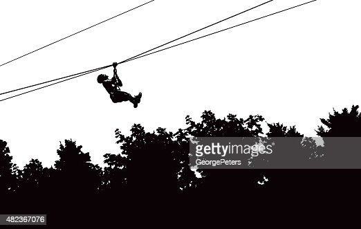 Line Drawing Zip : Zip lining adventure above the forest vector art getty