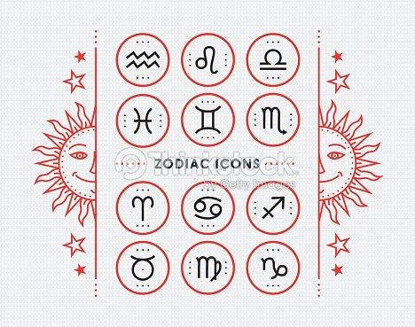 Zodiac Icon Collection Vector Collection Vector Art Thinkstock