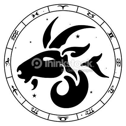 Zodiac Sign Capricorn Vector Art Thinkstock