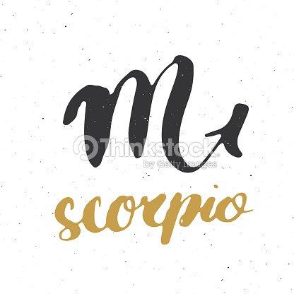 Sternzeichen Skorpion Und Schriftzug Gezeichneten Horoskop