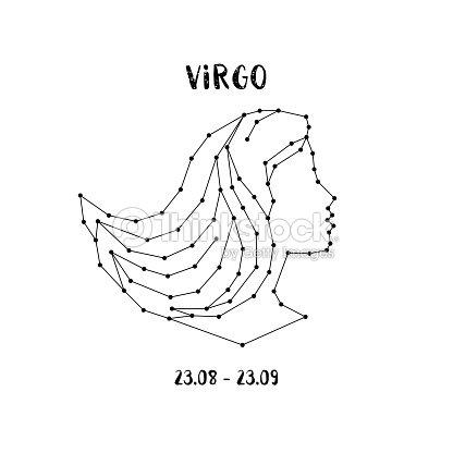 Sternzeichen Jungfrau Gestaltungselement Für Flyer Oder Grußkarten