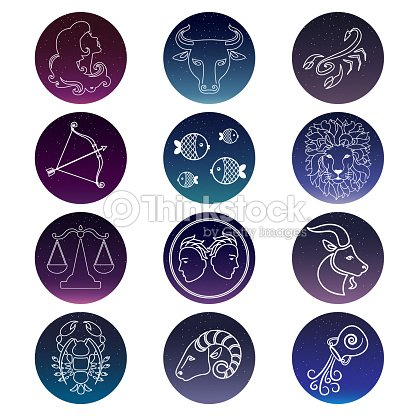 04deb08b8 Zodiac Signs Vector Set Of Isolated Icons stock vector - Thinkstock