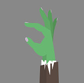 Zombie Hand business flat vector