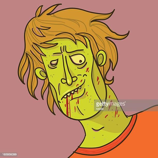 Zombie sketch portrait