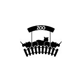 zoo's logo icon. Element of animals icon for mobile concept and web apps. Detailed zoo's logo icon can be used for web and mobile on white background