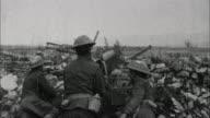 Soldiers fire heavy machine gun / France