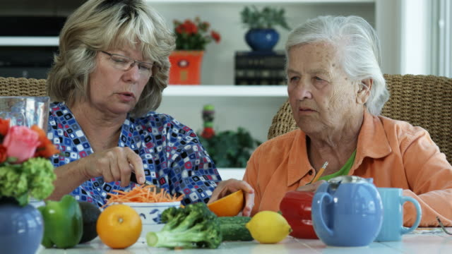 ELDERLY WOMAN AND NUTRITION-1080HD