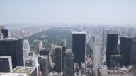 'WS, Lockdown, View over Manhattan skyline and Central Park, New York, USA'