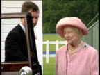 Queen Mother dressed in pink gets in to limousine Royal Ascot week Ascot Jun 91