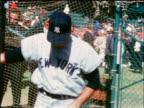 Yankee Bob Richardson practicing batting / industrial