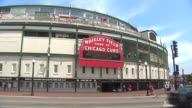 Exterior Of Wrigley Field During The Day