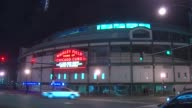Exterior Of Wrigley Field At Night