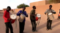 Musicians playing drums Niger Agadez