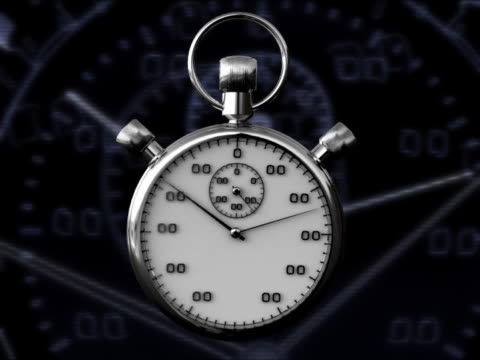 CLOCK STOP WATCH 3D RENDER WITH GRAPHICS