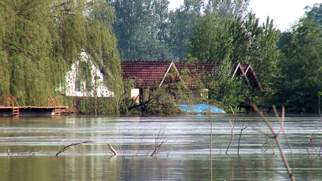 VIEW OF FLOODED HOUSES