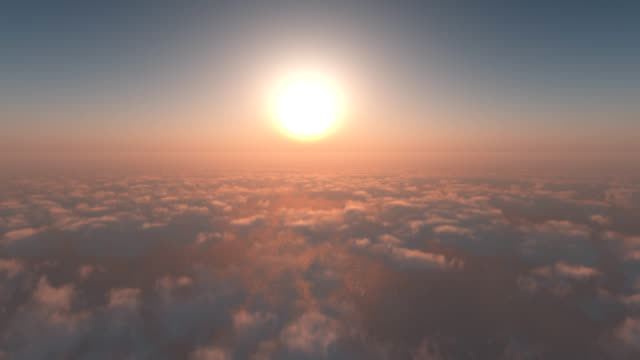 FLY FROM SKY CLOUDS TO SEA SUNSHINE
