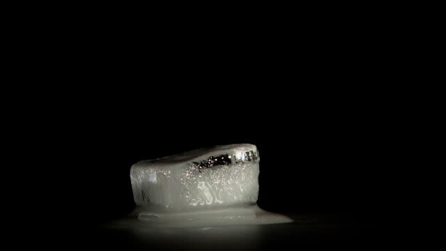 ONE ICE CUBE MELTING - HD