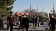 TEA AND CORN SELLERS NEAR BLUE MOSQUE