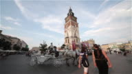 OLD CLOCK TOWER AND RYNEK OLD MARKET SQUARE
