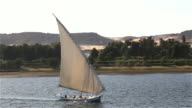 FELUCCA IN FULL SAIL ALONG WEST BANK