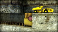 UNDERGROUND CRUSHER WITH TRUCK AND CONVEYOR