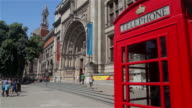 VICTORIA AND ALBERT MUSEUM AND RED TELEPHONE BOX