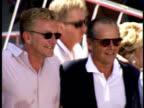 Michael Douglas poses with Jack Nicholson Rob Reiner Ann Douglas Diana Douglas Eric Douglas and Joel Douglas