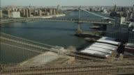 AERIAL OF BROOKLYN BRIDGE.
