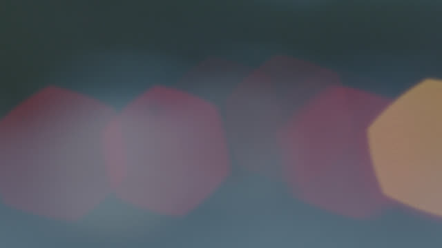 MEDIUM ANGLE OF BLURRED LIGHTS.