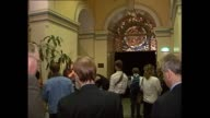 QUEEN ST MASSACRE TEN YEAR ANNIVERSARY MEMORIAL – DEAN ALLEN CRAIG REPORTS INT MELBOURNE GPO GROUP GATHERS TO REMEMBER MASSACRE – PAN TO MEMORIAL...