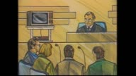 QUEEN ST MASSACRE INQUEST DAY 3 MARK GILLIES REPORTS SLOMO CON MARGELIS INTO CAR / COURT SKETCHES CON MARGELIS AND CORONER HAL HALLENSTEIN / GRAPHIC...