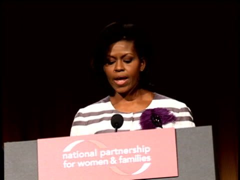 June 20 2008 MS Michelle Obama making speech at the National Partnership for Women and Families at the Washington Hilton Hotel/ Washington DC/ AUDIO