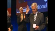 BOB HAWKE WALK TO LABOR PARTY CONFERENCE ON THE WAY HAVING HIS PHOTO TAKEN WITH A BABY HUGS AN ABORIGINAL PERSON / BOB HAWKE WALK ON STAGE SIMON...