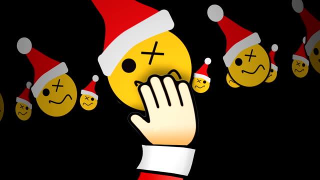 EMOTICONS CHRISTMAS SANTAS HAND