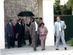 June 2005 MS Michael Jackson leaving Santa Maria courthouse where he is standing trial for child abuse / California United States / June 13 2005 /...