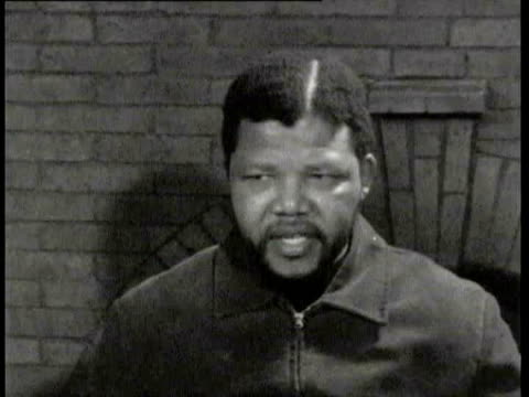 21Jun1961 B/W MONTAGE African nationalist leader Nelson Mandela in his first television interview / South Africa / AUDIO