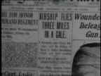 Newspaper clip announcing Wright brothers' historic flight / United States