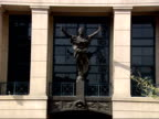 April 13 2006 ZO Statue over the main entrance to Alexandria Federal Courthouse / Virginia United States