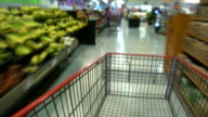 HD 1080i Blurred Motion Grocery Cart 2