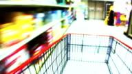HD 1080i Blurred Motion Grocery Cart 3