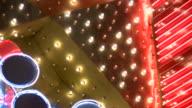 HD 1080i Las Vegas Neon Lights flickering 35
