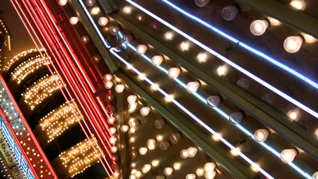 HD 1080i Las Vegas Neon Lights flickering 9