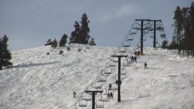 HD 1080i Ski lift on Colorado Resort Mountain 2