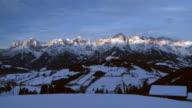 HD 1080p: Sunset time lapse shot at Region Hochkönig