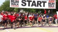 12th Annual Aids Run and Walk in Chicago The runners took off from Solider Field on a 5 or 10k run or walk The event has raised more than $4 million...