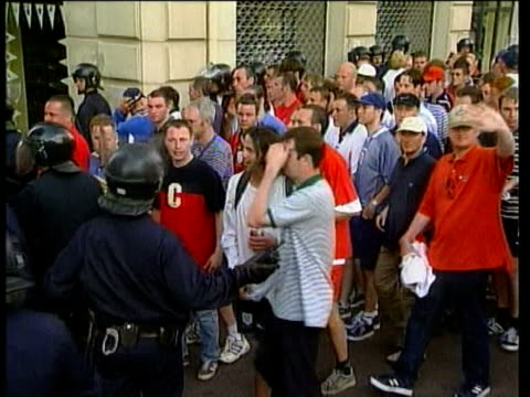15Jun1998 MONTAGE Continuing battles between English fans Tunisians and police in Marseilles / Marseilles France / AUDIO