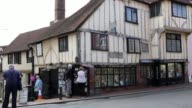 A 15th century beamed house in the English town of Lewes stands on the corner of Keere Street originally a Saxon lane Keere Street is now a steep...