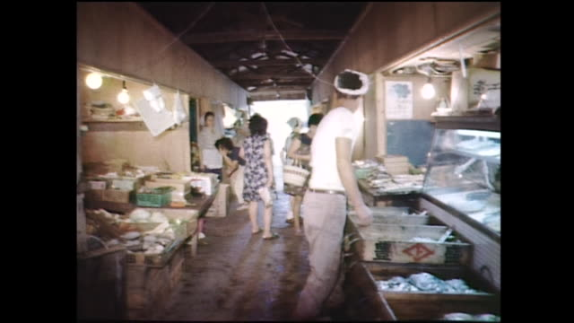16mm film clip of Gunkanjima Nagasaki Japan in 1970s one of the UNESCO World Heritage sites
